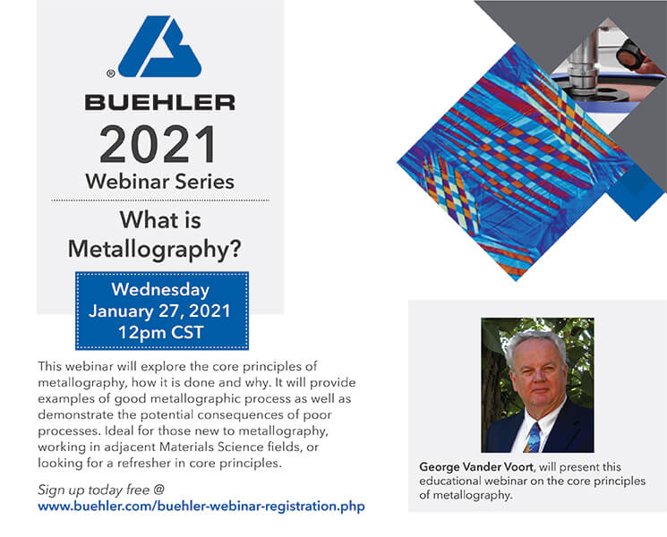 Buehler 2021 Webinar Series | What is Metallography